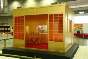 県の伝統工芸館二階に展示中